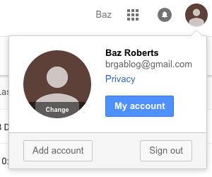 Account menu4