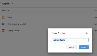 Create a folder - name folder