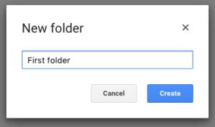 Create a folder - new name
