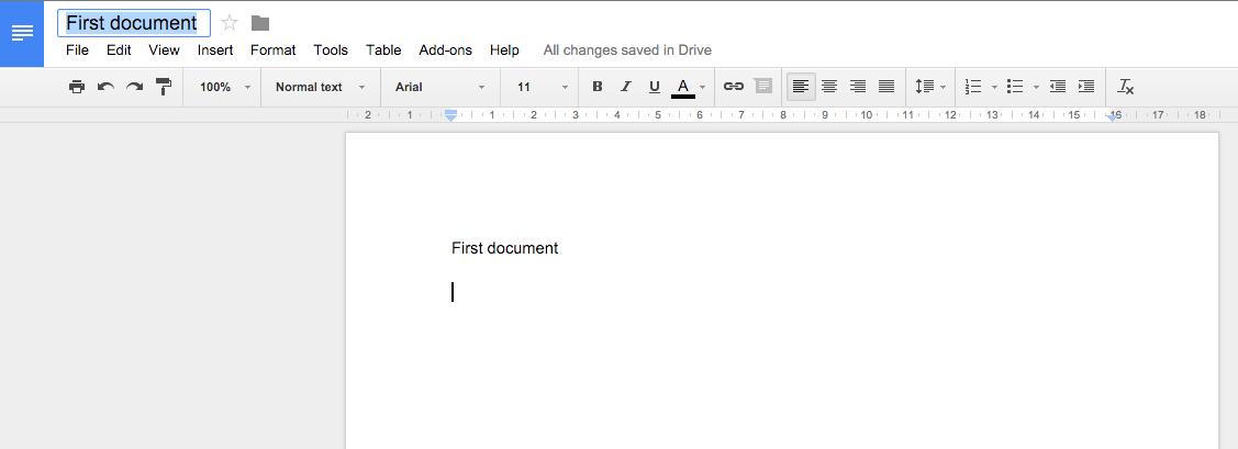 Create doc - automatic name