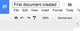Create doc - change name