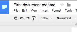 Create doc - name changed