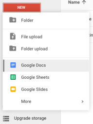 Create doc - Select Google Doc