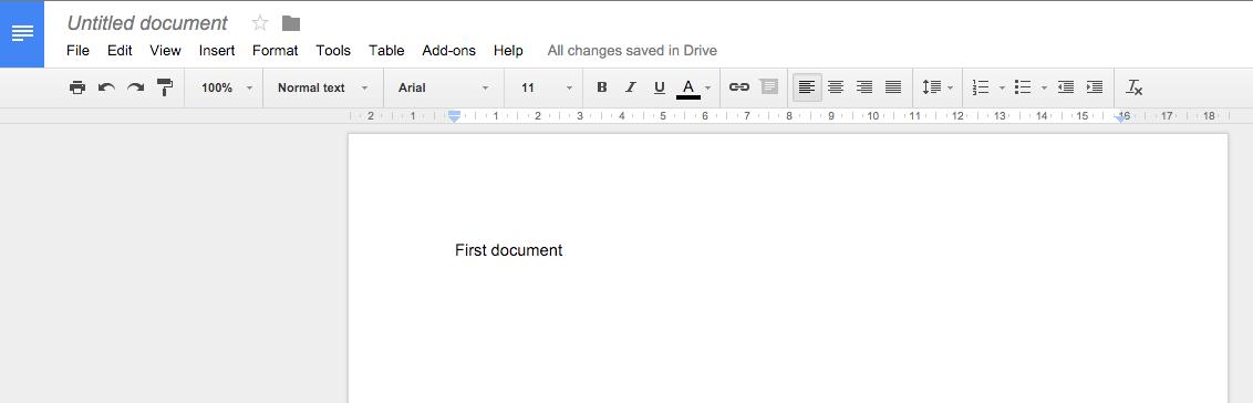 Create doc - untitled doc