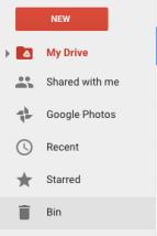 Delete a file - Bin menu