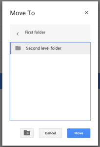 Moving a file 3 - Select and move