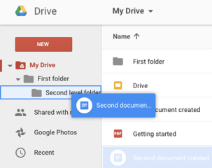 Moving a file2 - Drag file