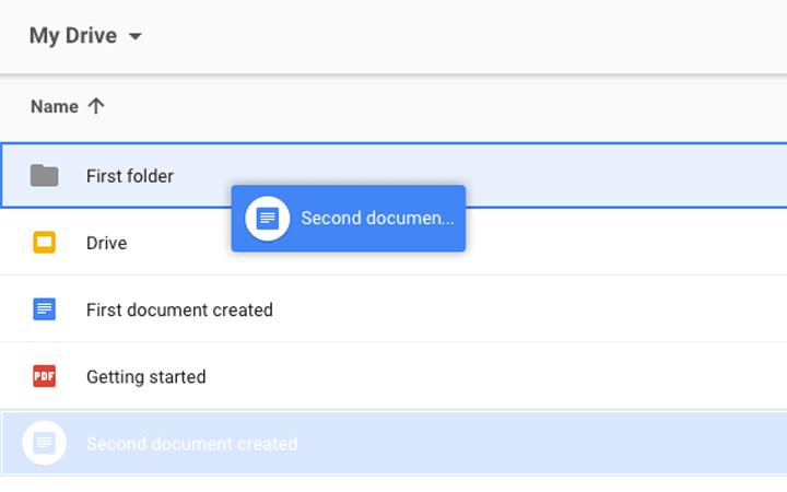 Moving files - Drag file