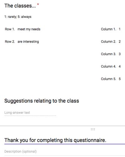 Questionnaire - 3